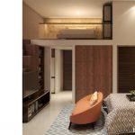 Tipe 1 BR Apartemen Logios Depok Interior Design