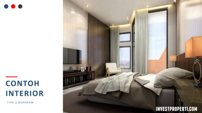 Tipe 2 BR Apartemen Logios Depok Design