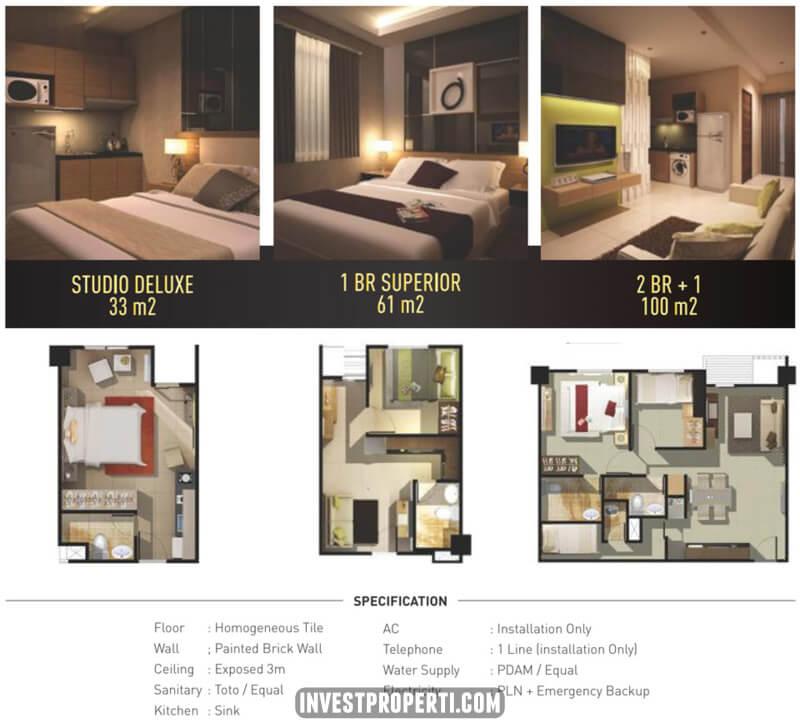 Interior Design Apartemen Bandara City 2 BR