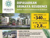 Dijual Rumah Srimaya Residence Bekasi