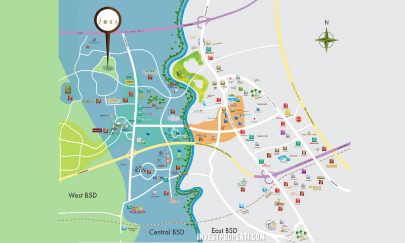 Peta Lokasi Cluster The Zora BSD