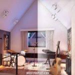 Interior Design Rumah Cluster Caelus Greenwich Park Tipe 10 Attic