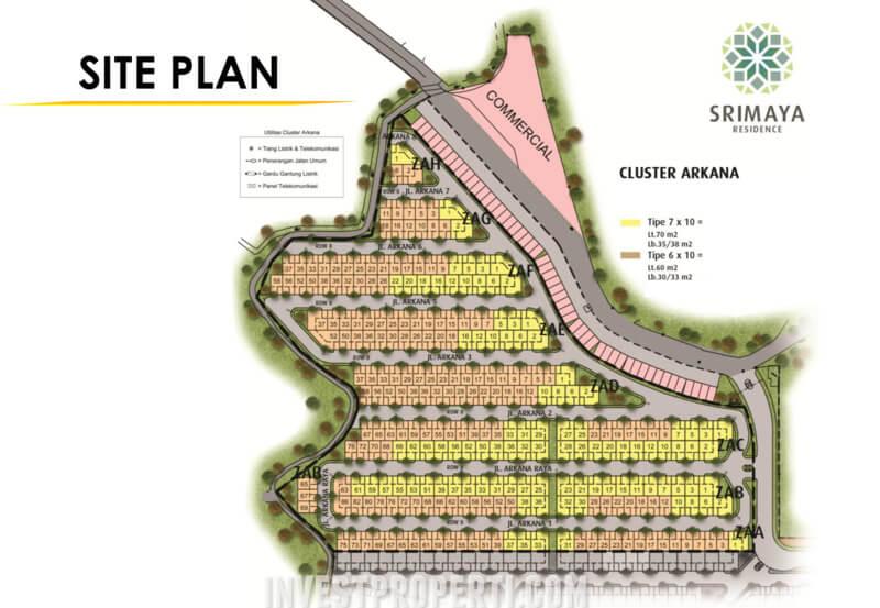 Site Plan Cluster Arkana Srimaya Residence
