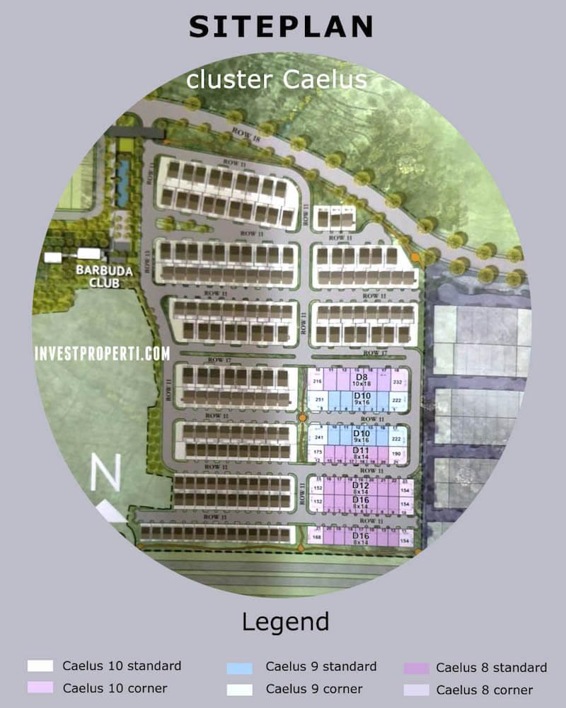 Siteplan Perumahan Cluster Caelus BSD