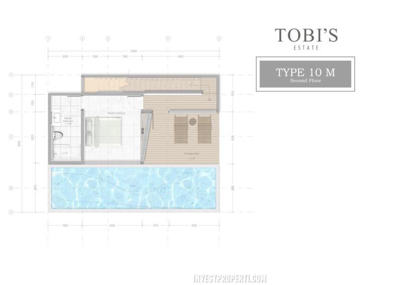 Denah Lt 2 Tobi's Villa Bali Tipe 10