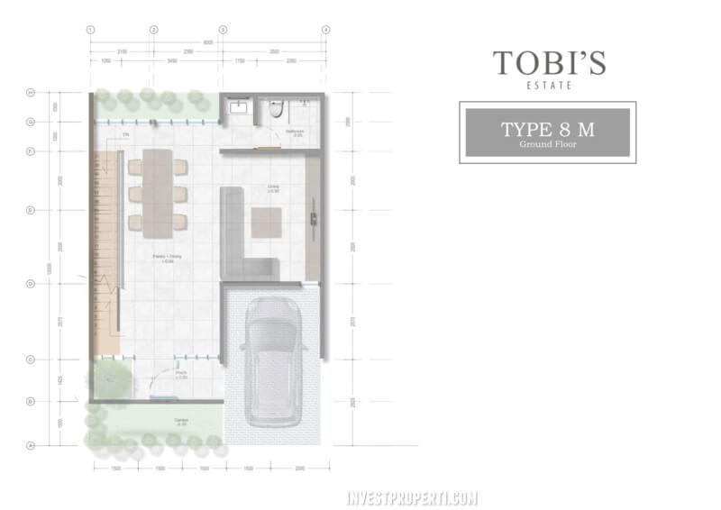 Denah Tobi's Villa Bali Tipe 8