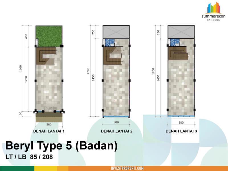 Tipe 5 Badan - Beryl Commercial