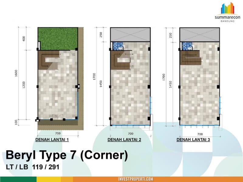 Tipe 7 Corner - Beryl Commercial