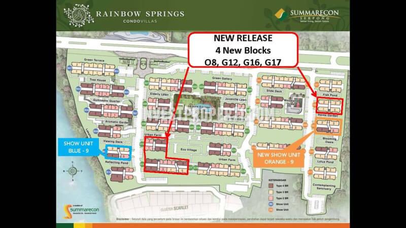 Rainbow Springs Condovillas Summarecon Serpong Blok Baru