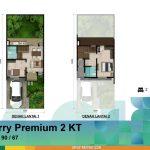 Denah Rumah Cherry Premium 2 KT