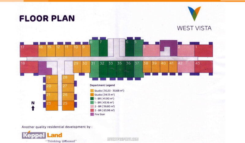 Floor Plan Apartemen West Vista Puri