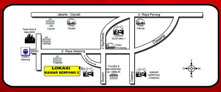 Lokasi Rumah Kaisar Serpong 2