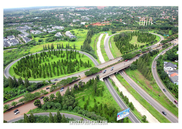 Lokasi Upper West BSD City
