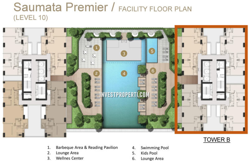 Saumata Premier Alam Sutera Facilities 10th Floor