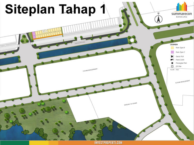 Site Plan Beryl Commercial Summarecon Bandung
