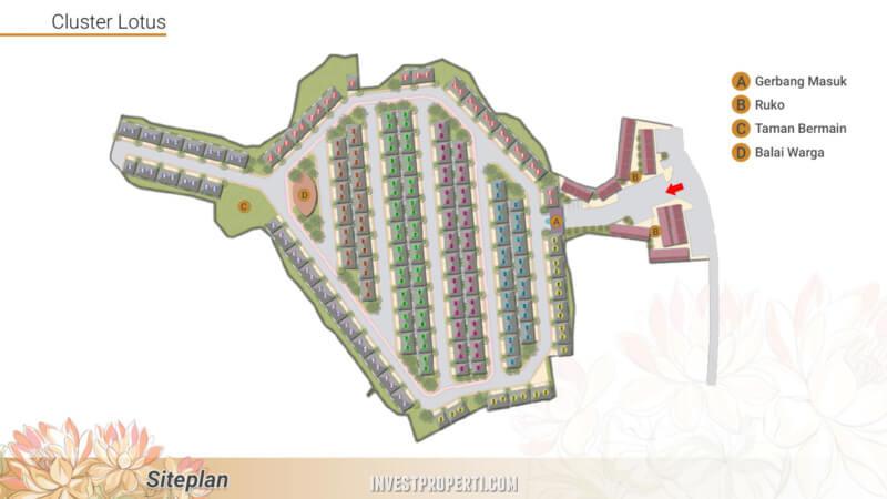Site Plan Cluster Lotus Parung Panjang