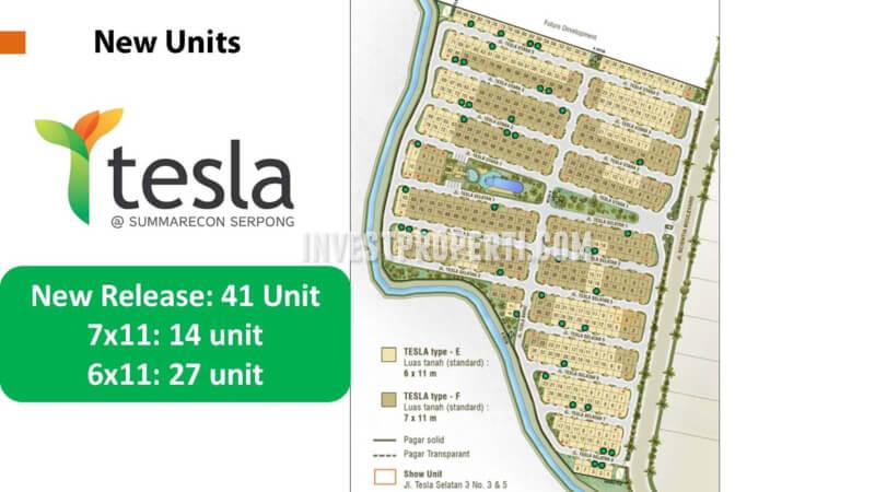 Unit Baru Cluster Rumah Tesla Summarecon Serpong