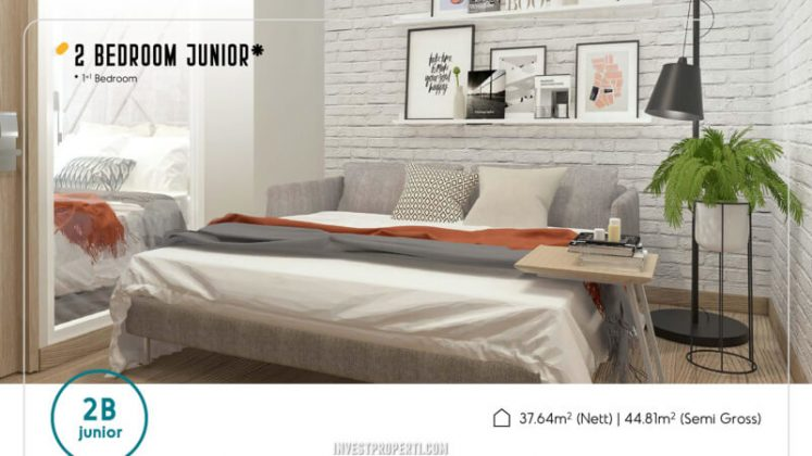 Apartemen Skandinavia Tipe 2 BR Junior