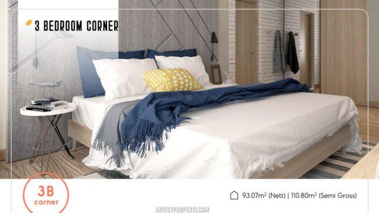 Apartemen Skandinavia Tipe 3 BR Corner