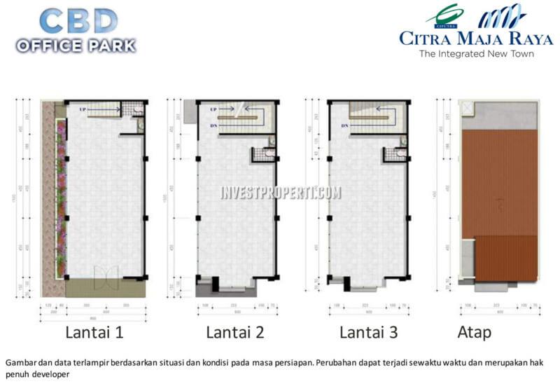Denah CBD Office Park Citra Maja Raya