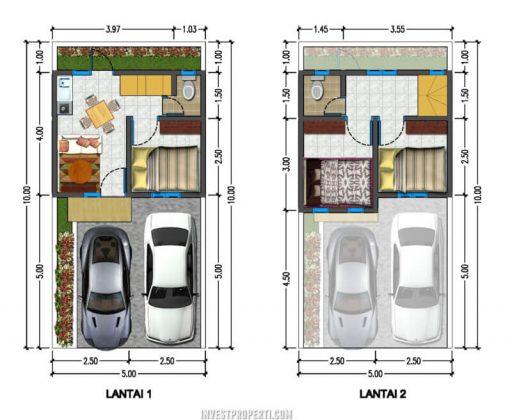 Denah Rumah Adipati Residence Bintaro Tipe Queen