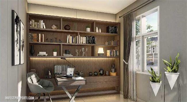 Interior Design Study Room Rumah Visana Savia BSD