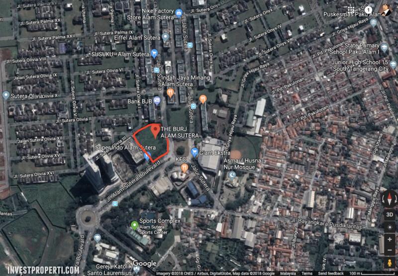 Peta Lokasi The Burj Alam Sutera
