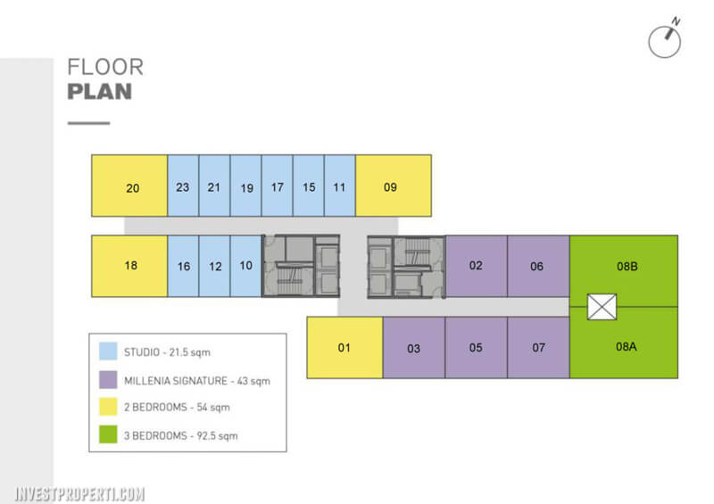 The Burj Alam Sutera Apartment Floor Plan