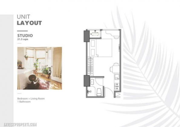 The Burj Millenia Alam Sutera Studio Layout