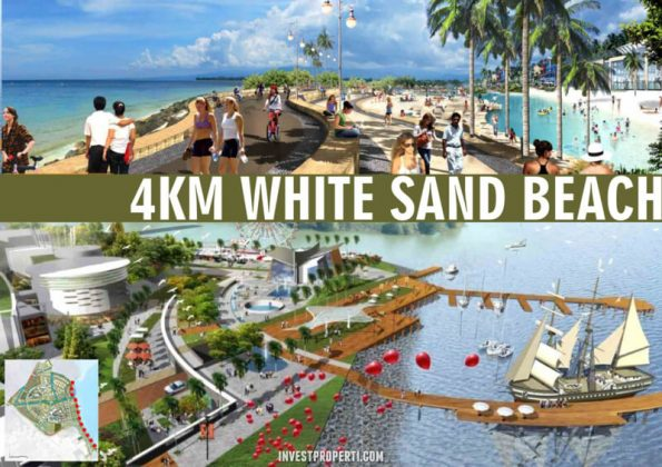 4 km White Sand Beach PIK 2