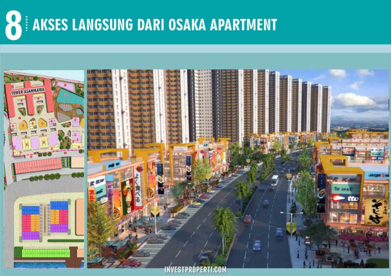 Akses Langsung Osaka Apartment PIK 2