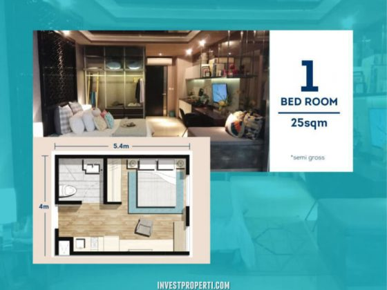 Apartemen Chadstone Tipe 1 BR