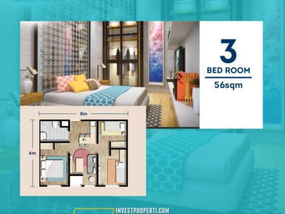 Apartemen Chadstone Tipe 3 BR