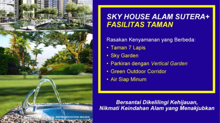 Fasilitas Taman Sky House Alam Sutera