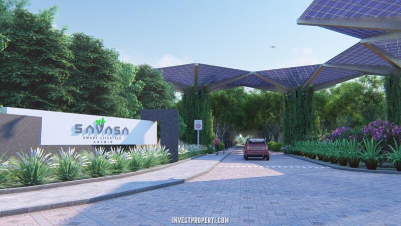 Gate Perumahan Savasa Homes Kota Deltamas