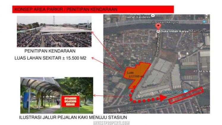 Konsep Area Parkir Stasiun Bojong Indah