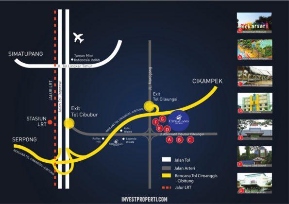 Peta Lokasi Citraland Cibubur