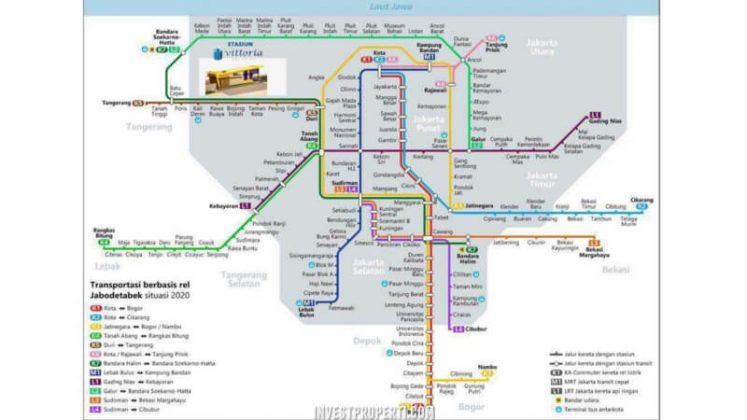 Peta Stasiun KA Jabodetabek