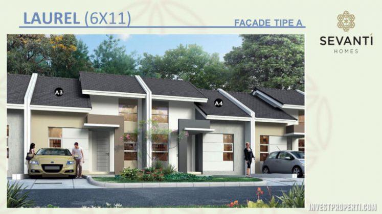 Rumah Sevanti Homes SEKAR Tipe 66 Layout A