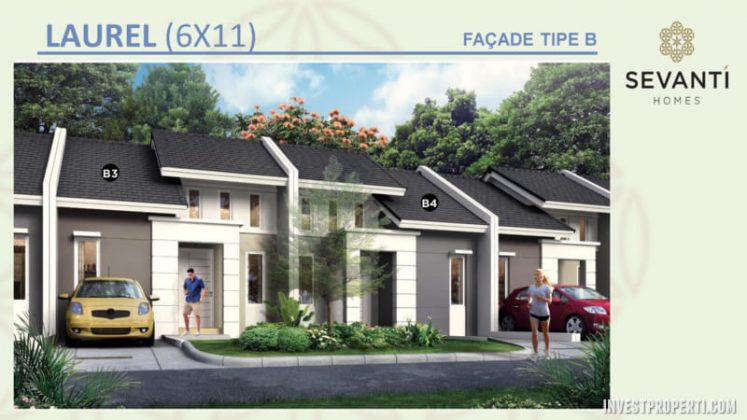 Rumah Sevanti Homes SEKAR Tipe 66 Layout B