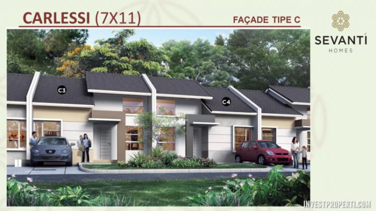 Rumah Sevanti Homes SEKAR Tipe 77 Layout C