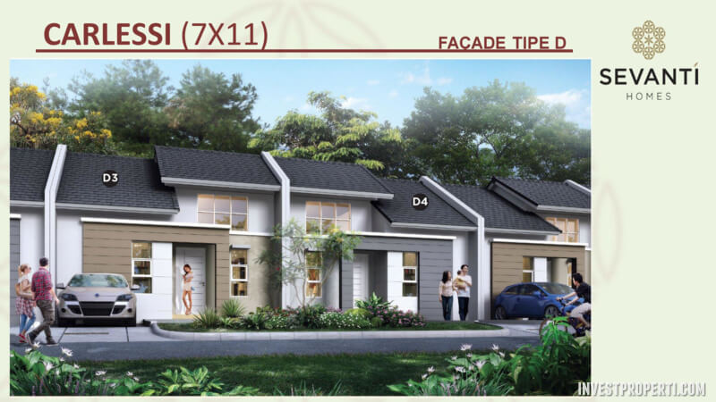 Rumah Sevanti Homes SEKAR Tipe 77 Layout D