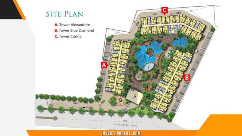 Site Plan Vittoria Apartemen Jakarta