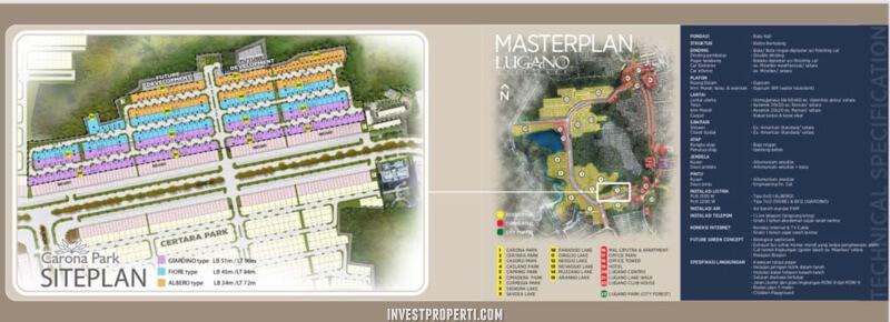 Site Plan Cluster Carona Park Citra Raya