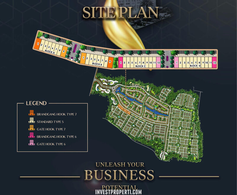 Site Plan Ruko Plaza Podomoro Park Bandung