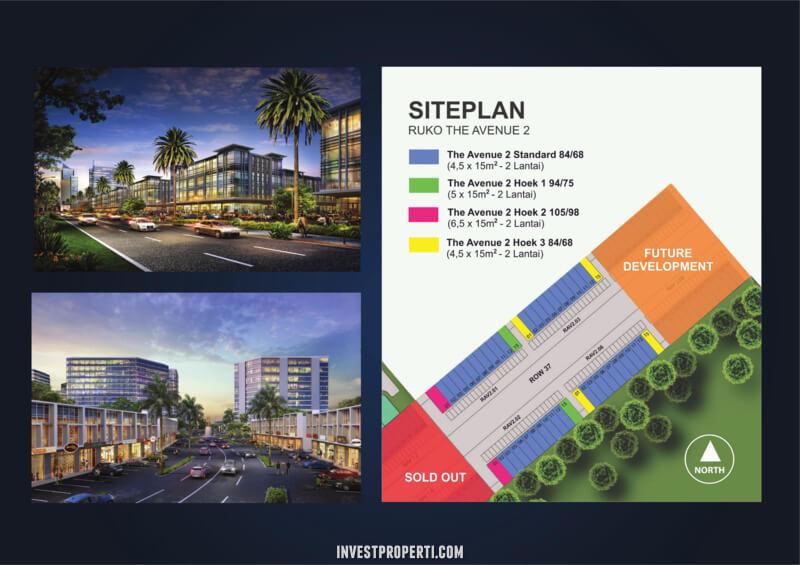 Site Plan Ruko Avenue 2 Citraland Cibubur