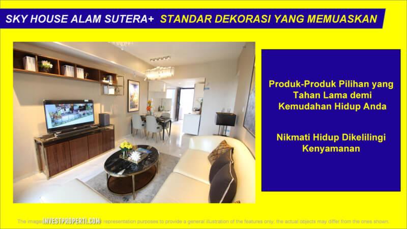 Standard Interior Apartemen Sky House Alam Sutera