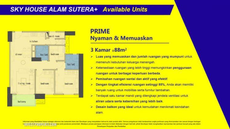 Tipe 3 BR Sky House Alam Sutera