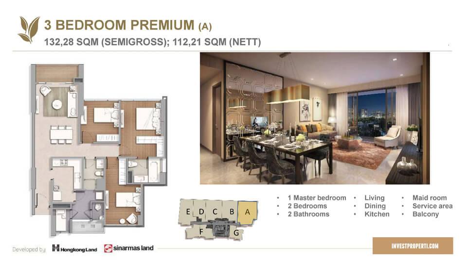 Tipe 3 BR Apartemen Marigold BSD