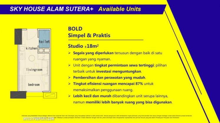 Tipe Studio Sky House Alam Sutera